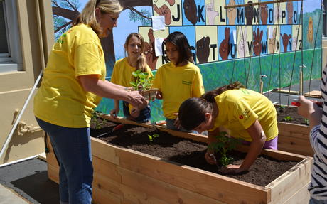 Learning Garden on Earth Day